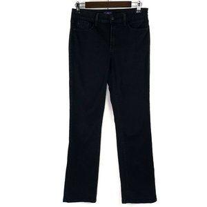NYDJ Marilyn Straight Black High Rise Jeans 6 P